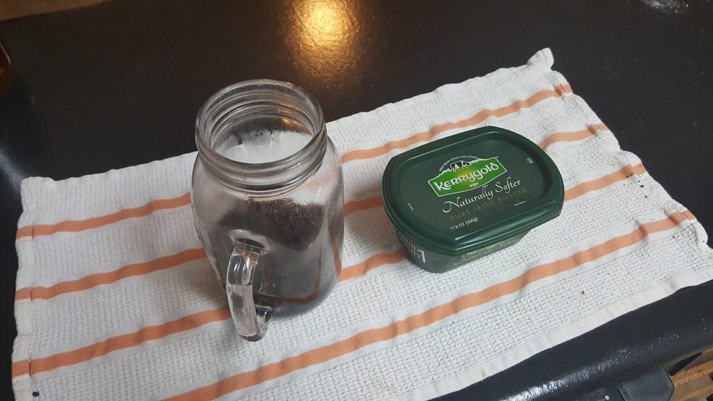 Add Kerrygold butter to the coffee